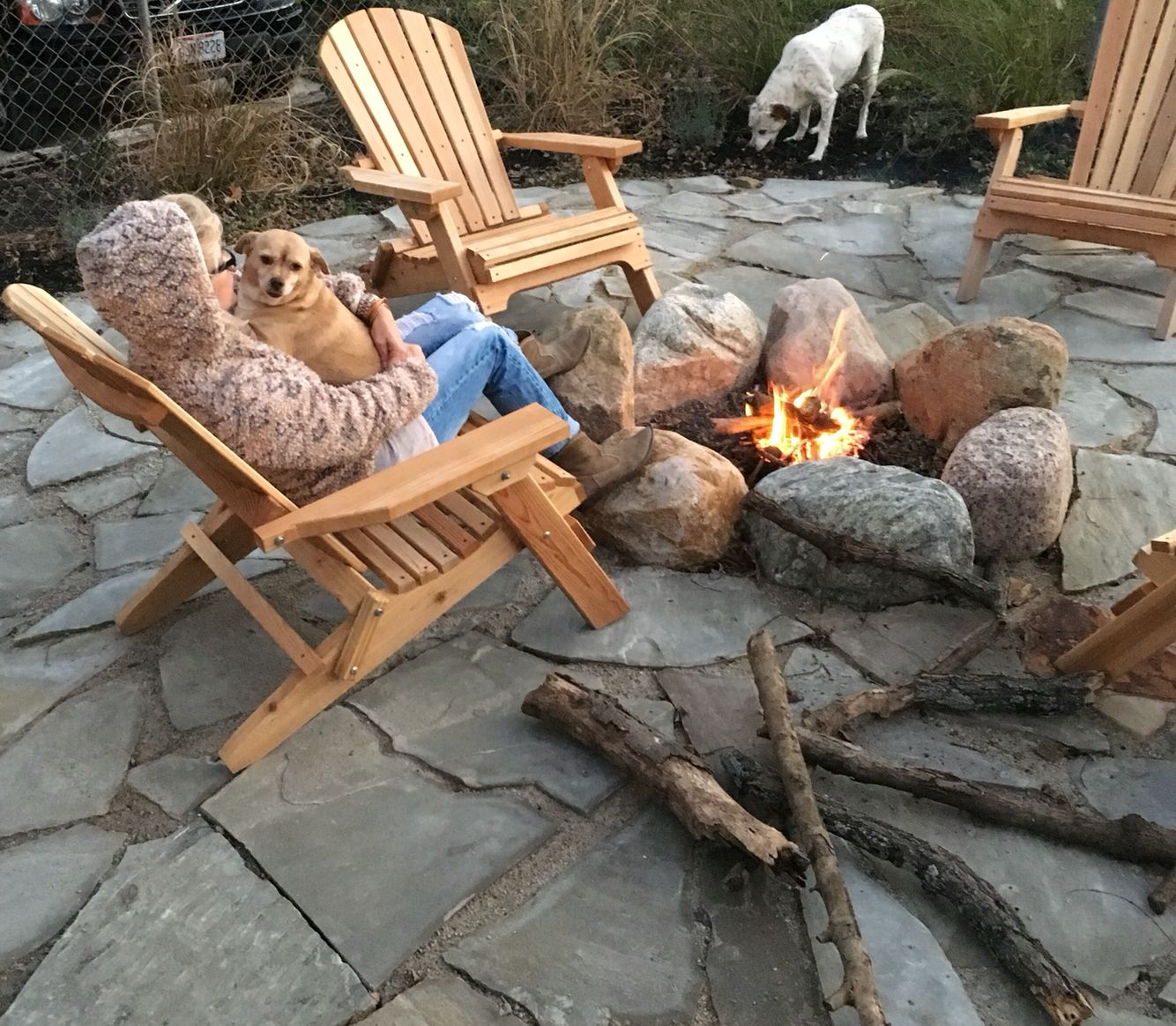 Tennessee Flagstone And Boulder Fire Pit Diy