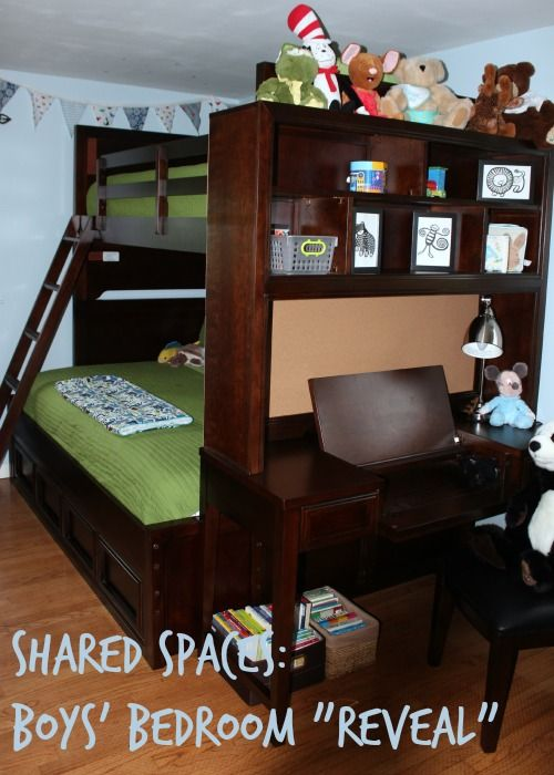 Quality Of Raymour And Flanigan Furniture Part - 20: shared spaces boys bedroom with bunk beds - this is a room theyu0027ll grow  into over the years - quality furniture and sophisticated pieces.
