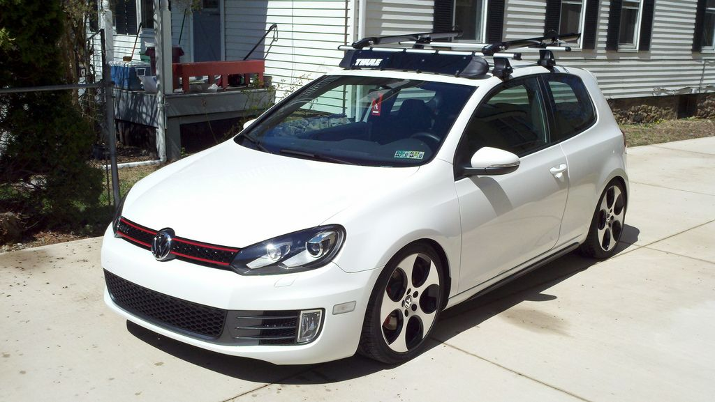 Vwvortex Com Fs Thule Aero Roof Rack Setup For Mk5