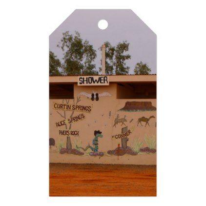 outback toilet block australia gift tags