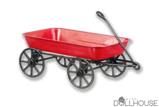 Miniature Wagon $6.90 #miniwagon #minikids #miniatureaccessories Start shopping! missdollhouse.com