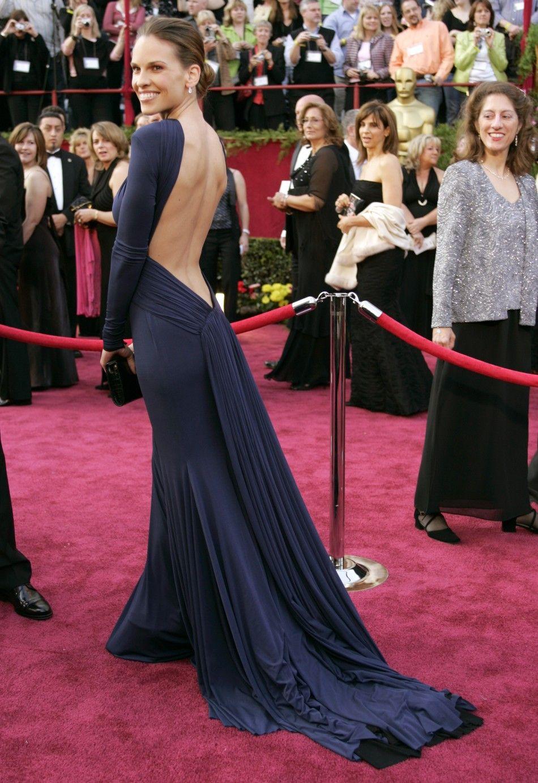 Resultado de imagen de Hilary Swank en los premios Oscar 2005