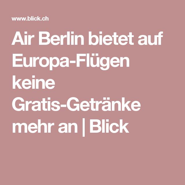 Air Berlin streicht Gratis-Getränke   Pinterest