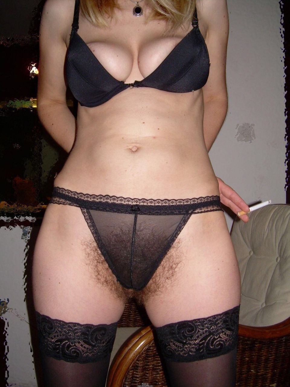 Hairy bush panties