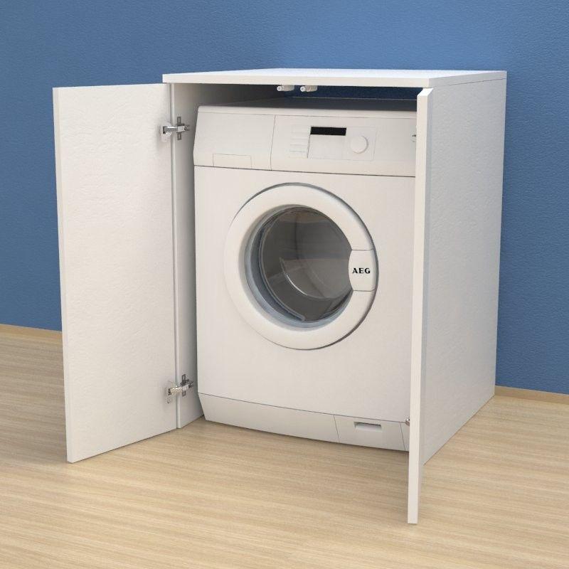 meuble couvercle machine à laver avec portes  buanderie