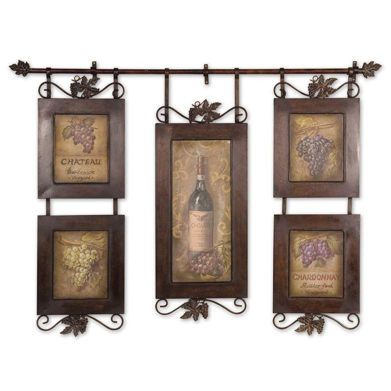 Hanging Wine Wall Du00e9cor By Darby Home Co Wine Wall Art Wine Wall Decor Oversized Wall Decor