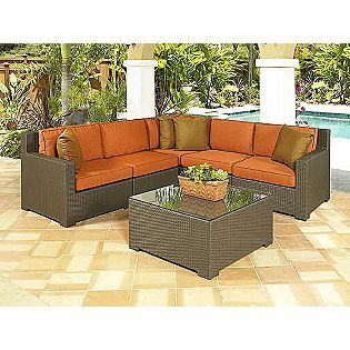 Elegant Chicago Wicker Melrose 5 PC Sectional Seating Group. Sectional Patio  FurnitureOutdoor ... Design Ideas