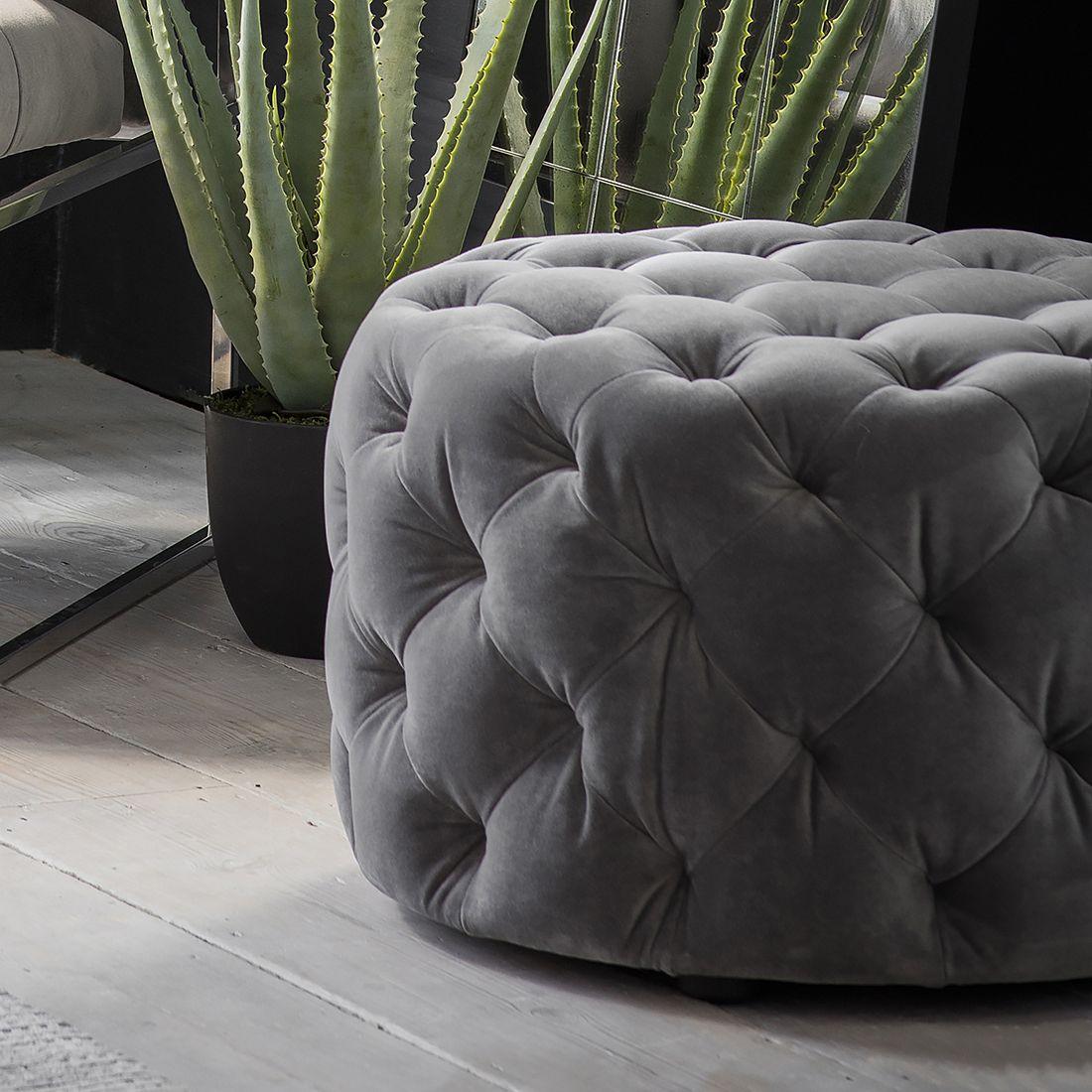 Fine Round Velvet Button Back Pouffe Dove Grey In 2019 Velvet Theyellowbook Wood Chair Design Ideas Theyellowbookinfo