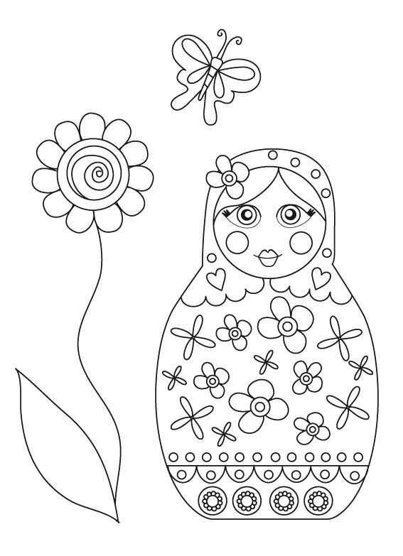 Coloring sheet coloriage matriochka pinterest coloriage - Coloriage russie ...