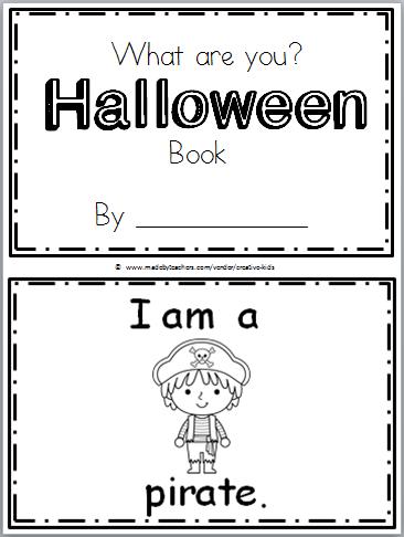 """Free Halloween Book For Kindergarten Practice Reading The Words """"i"""