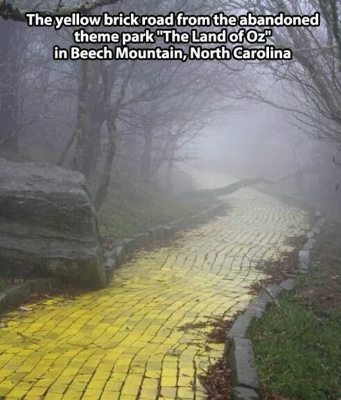 Abandoned Yellow Brick Road Beech Mountain North Carolina