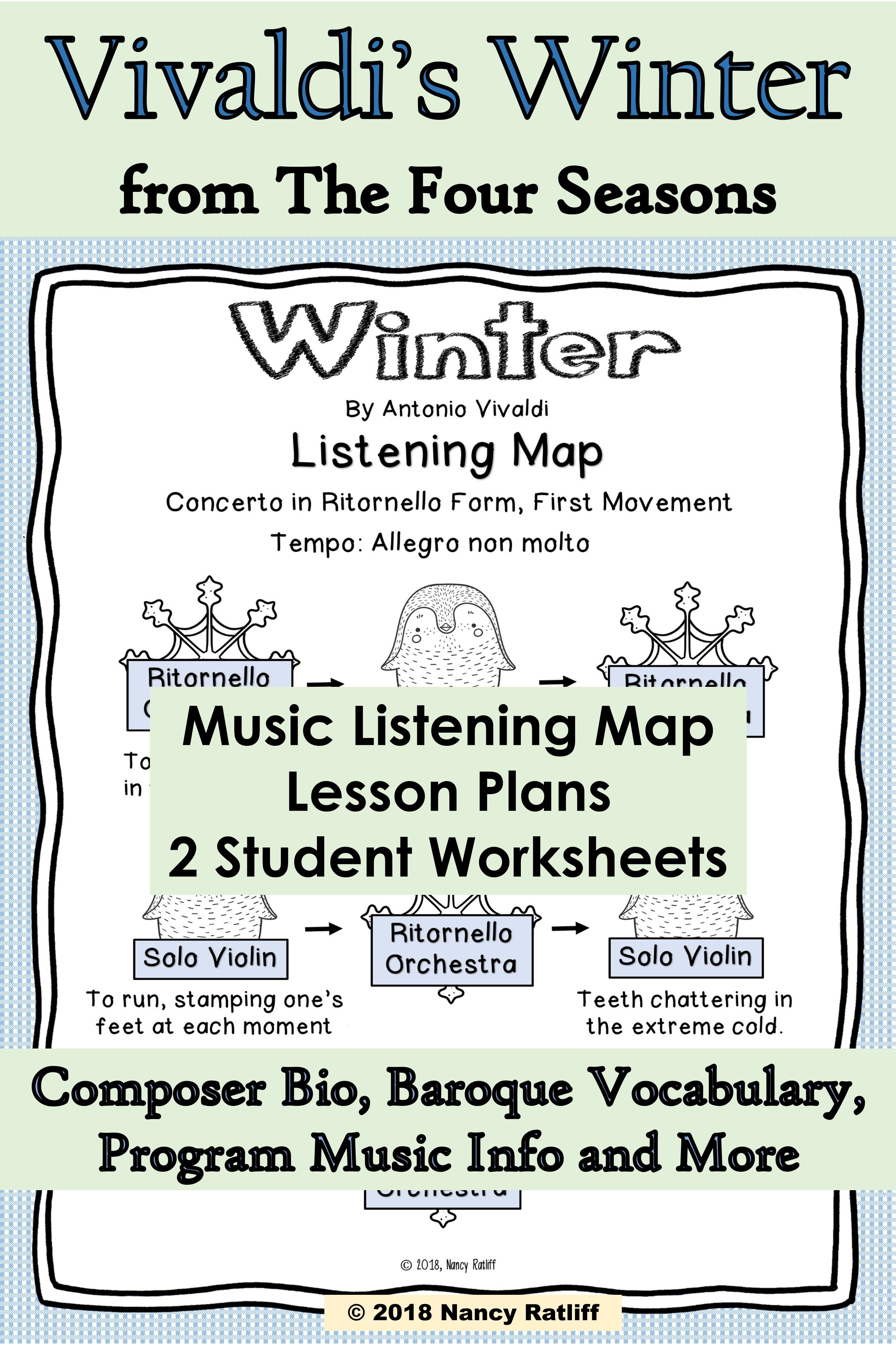 Vivaldi S Winter Music Listening And Mood Activity Sheets