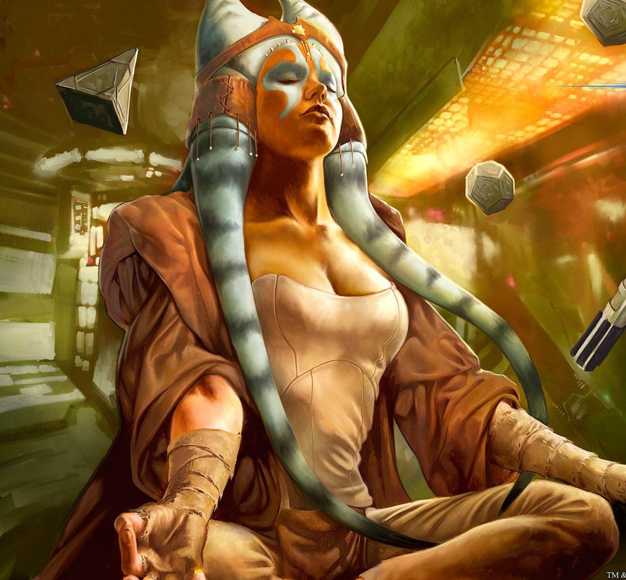 """zenothian-archives: """" Female Jedi Togruta """"  Star wars art, Star"""