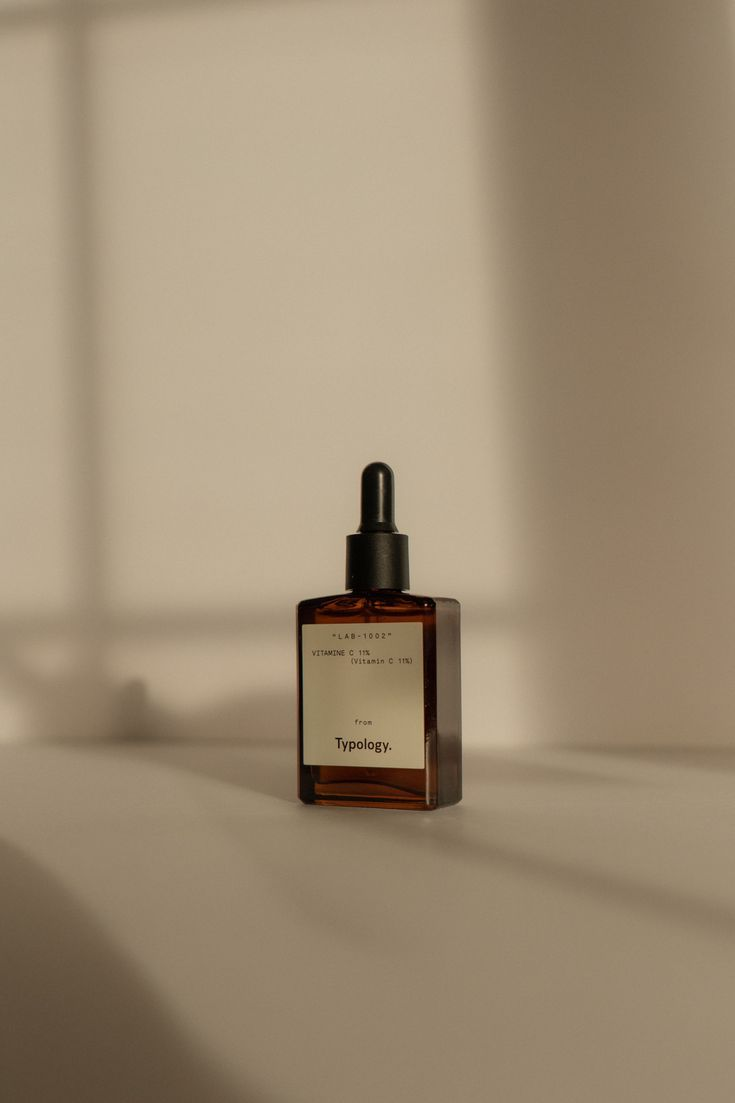Shadow Product Photography for Typology Skincare b