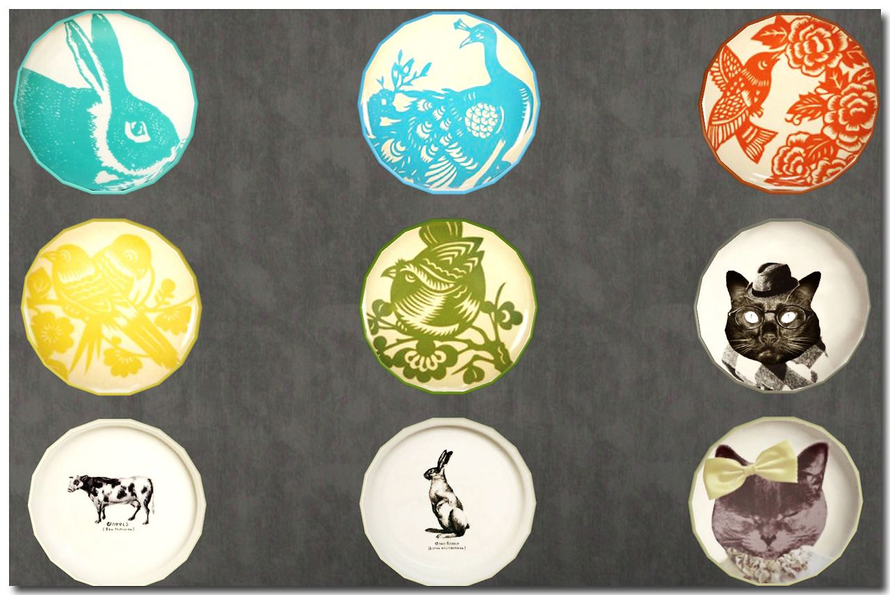 Wall Art Plates It's Just Too Much  Wall Art Plates Sims3  Overrides