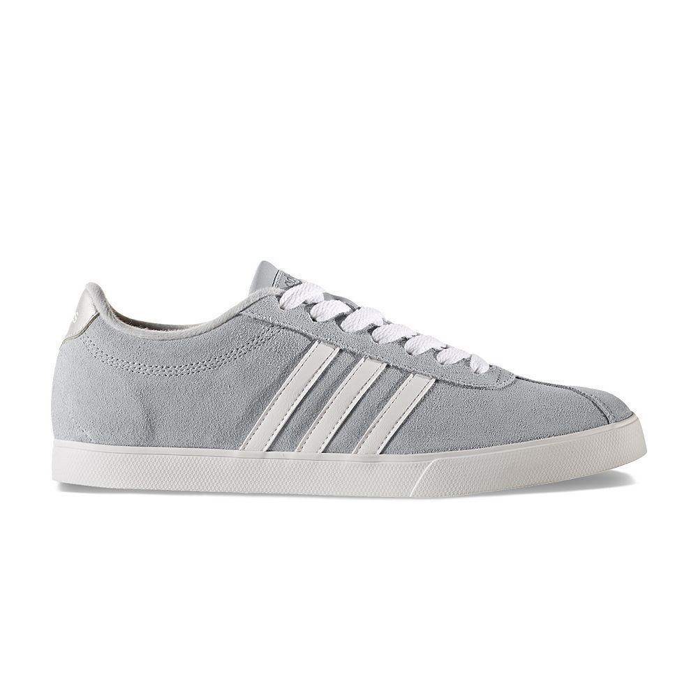reputable site 93ffa c309e Adidas NEO Courtset Womens Suede Sneakers, Size 6.5, Silver