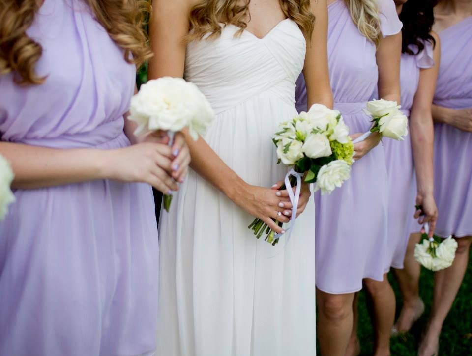 Bridesmaids Dresses In Iris From Little Borrowed Dress