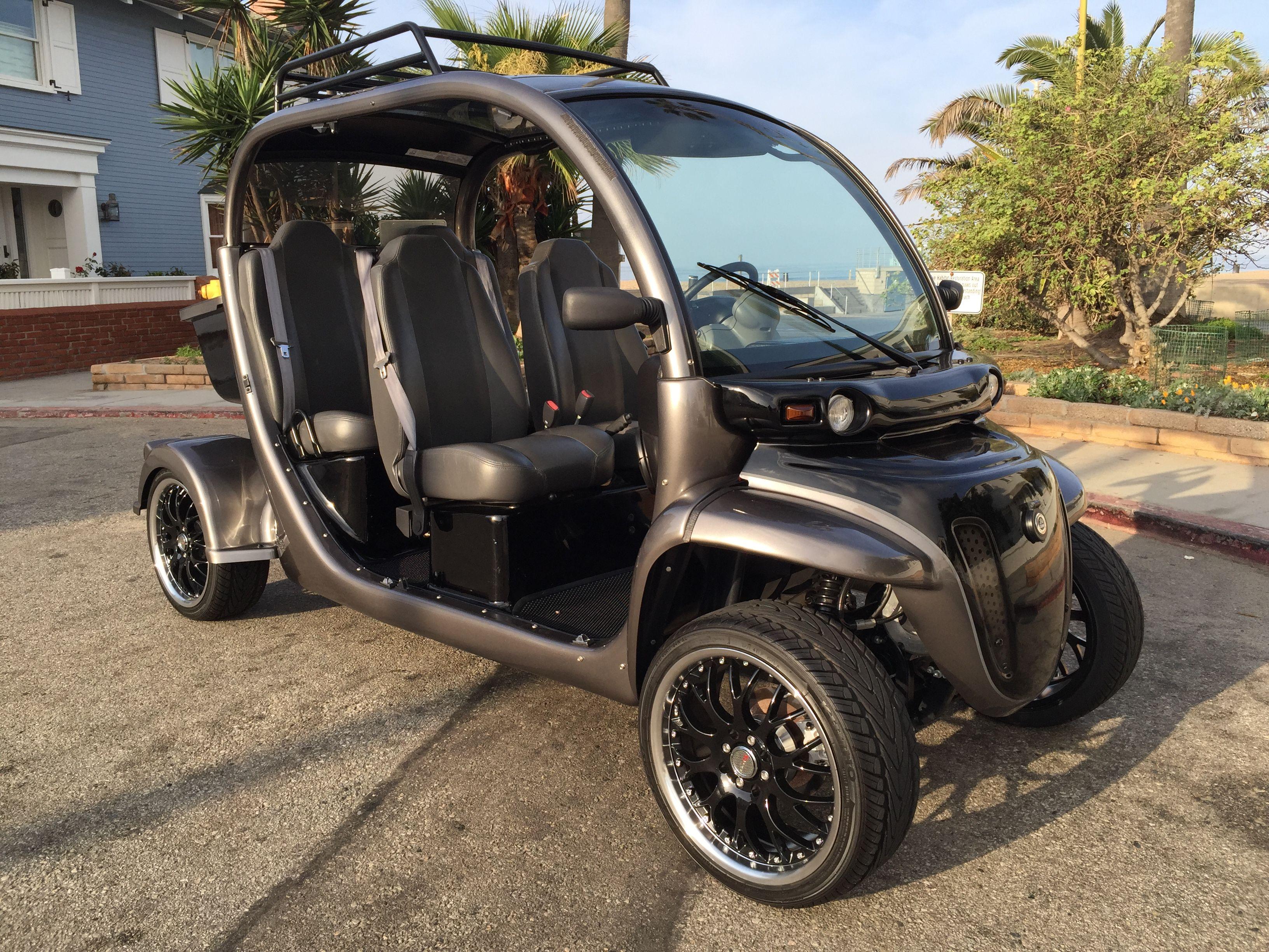 Custom Gem Car By Innovation Motorsports Black And Grey With Wheels