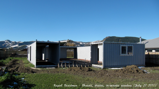 Shipping Container Homes: 3x 40ft, 1x 20ft Shipping Container Home, -  Kuziel Residence