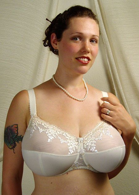 image Bbw in white lingeries fucked by black date