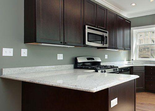 Dark Cabinets With White Granite Countertops : Kitchen Cabinet Colors With  White Countertops U2013 Kitchen Design Inspiration