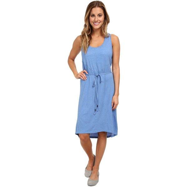 Lole Sophie Dress Women's Dress, Blue ($33) ❤ liked on Polyvore featuring dresses, blue, sleeveless jersey, sleeveless jersey dress, drawstring dress, travel dress and sleeveless dress
