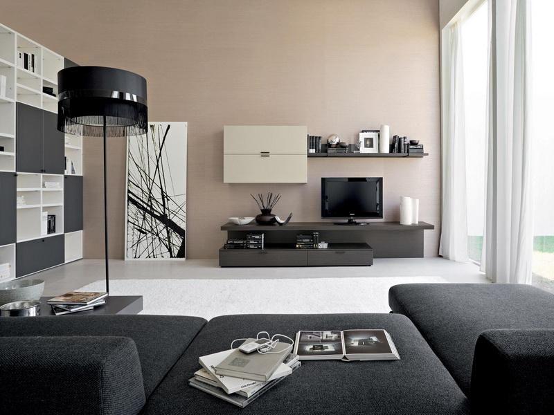 Modern Living Room Black Furniture
