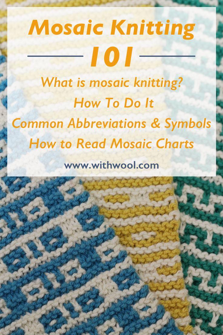 mosaic knitting 101 knit stitches knitting stitches