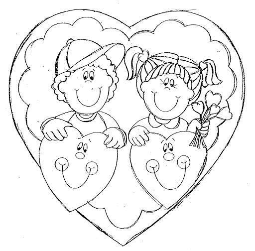 Dibujos Para Colorear 14 Febrero Dia Amor Amistad Dibujos Para Pintar
