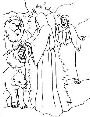 daniel and the lions den coloring page | daniel in the lion's den ... - Bible Story Coloring Pages Daniel