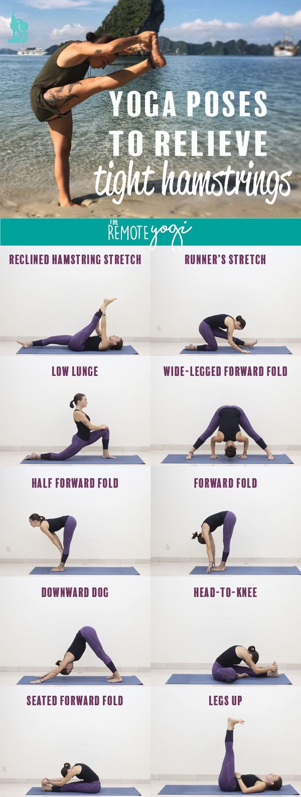 34 Yoga Poses to Relieve Tight Hamstrings  How to do yoga, Yoga