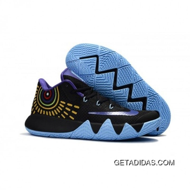 596a0a755de0 Nike Kyrie 4 Black Violet Jade Basketball Shoes Copuon Code ...