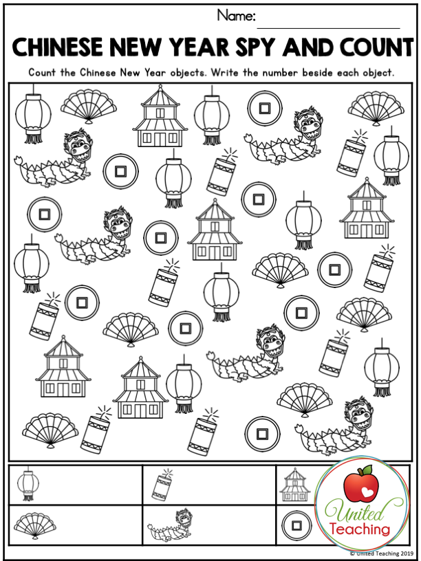 Chinese New Year Spy and Count Activity