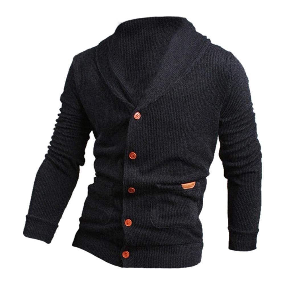 9dc6b90ab36 Men APRAW Mens Casual Slim Fit Sweaters with Zipper Cotton Knitted Cardigan