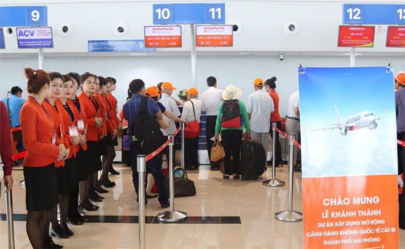 Vé máy bay khuyến mại Hải Phòng Sài Gòn Jetstar từ 390000đ