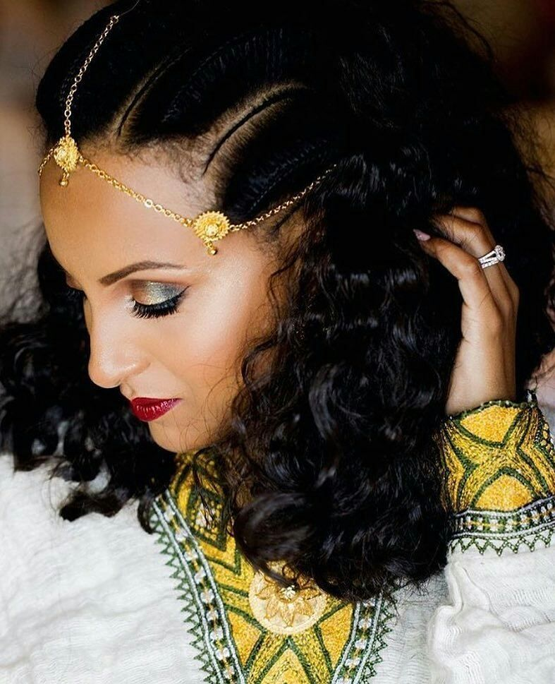 #Ethiopian_Fashion, #EthiopianFashion, | Ethiopian hair, Natural hair bun styles, Beauty