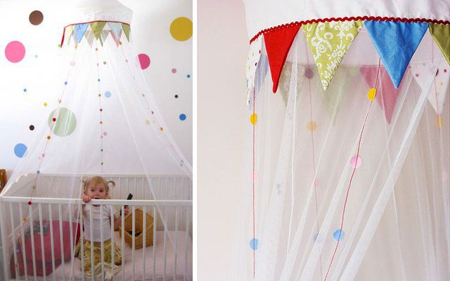 habitaciones decorada con la mosquitera de ikea