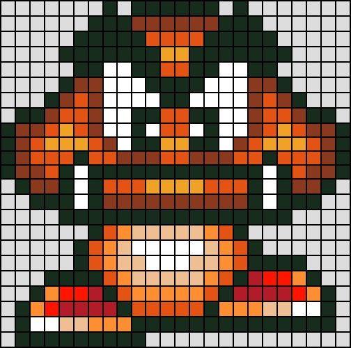 Goomba Mario Patterns Goomba Hama Mini Perler Bead Art Hama Mario