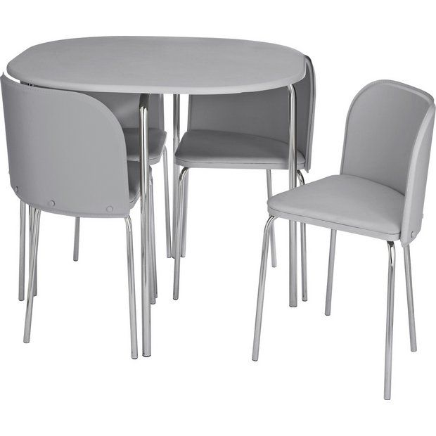 Buy Argos Home Amparo Grey Dining Table & 4 Grey Chairs