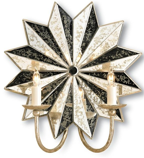 Currey and Company - Starburst Wall Sconce 2L