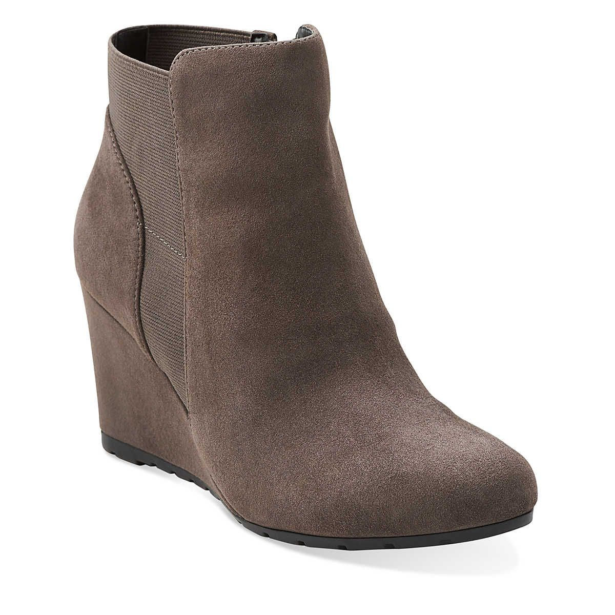 Womens Boots Clarks Rosepoint Bell Grey Suede