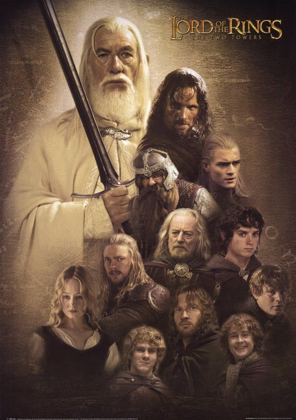 Lord Of The Rings The Two Towers 11x17 Movie Poster 2002 In 2020 Lord Of The Rings The Two Towers Lord