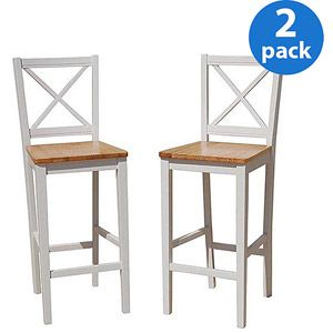 Virginia Cross Back 30 Quot Bar Stool Set Of 2 For 98 00