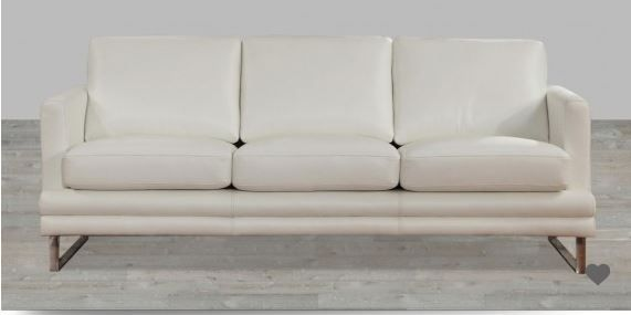 Wondrous White 100 Top Grain Leather Sofa With Metal Legs Leather Gamerscity Chair Design For Home Gamerscityorg