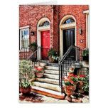 Philadelphia PA - Townhouse With Red Geraniums Card  Philadelphia PA - Townhouse With Red Geraniums Card  $4.10  by SusanSavad  . More Designs http://bit.ly/2g9LYfi #zazzle