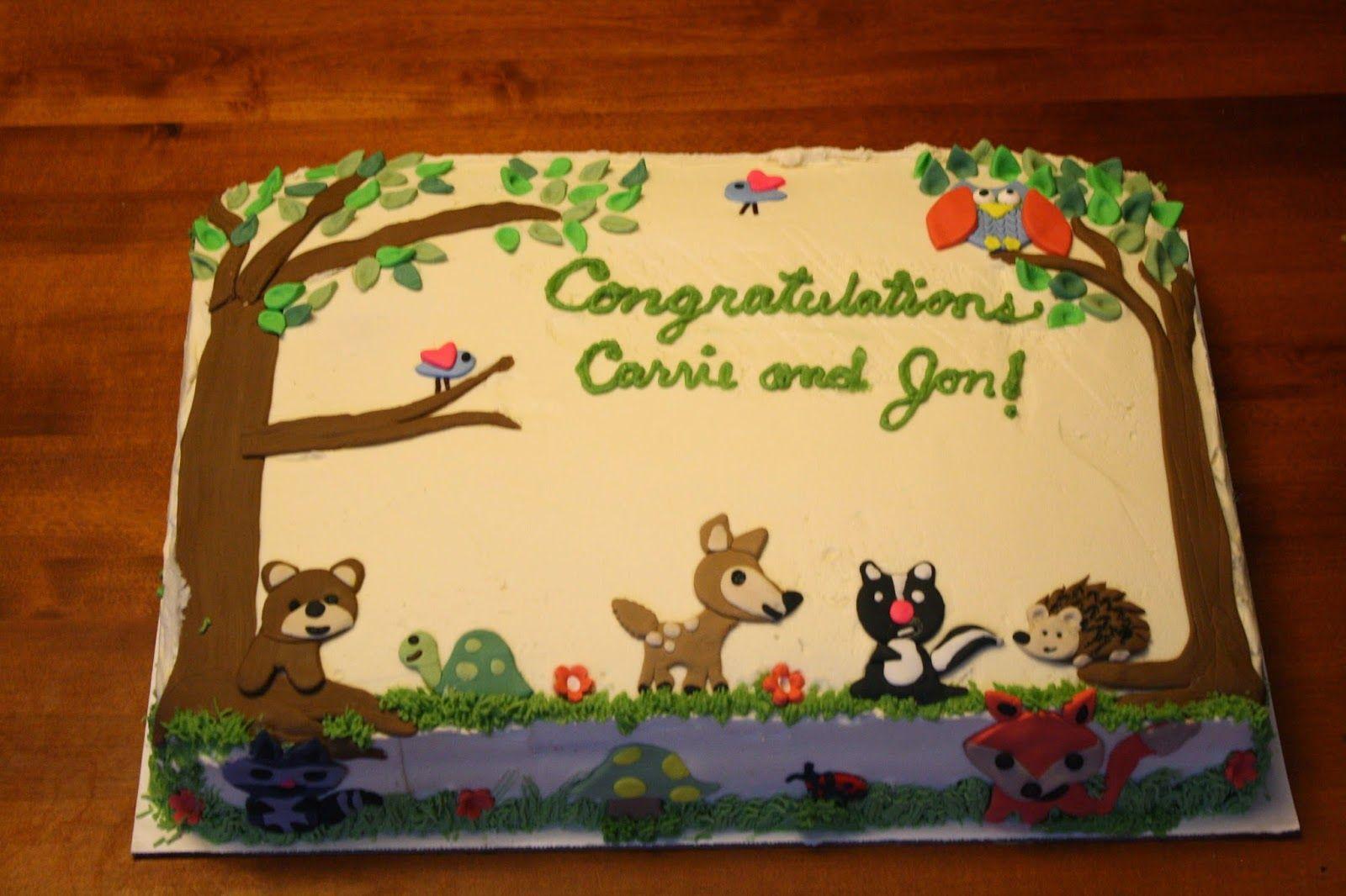 Baby Woodland Animals Cake Decorations Woodland Animals