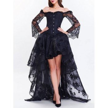 high low two piece corset dress mit bildern