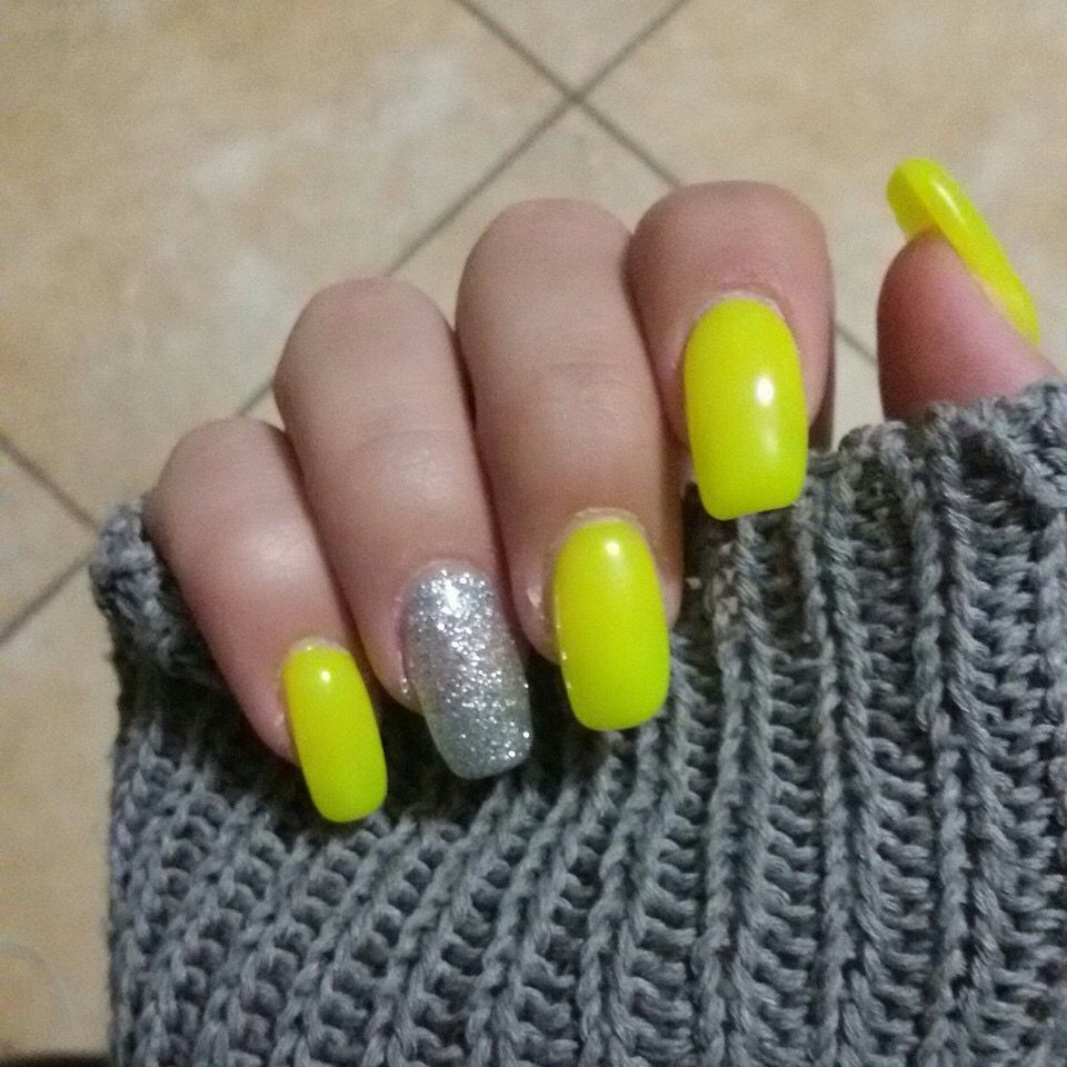 Giallo Fluo Nails Unghie Giallo Fluo Unghie Gialle Unghie