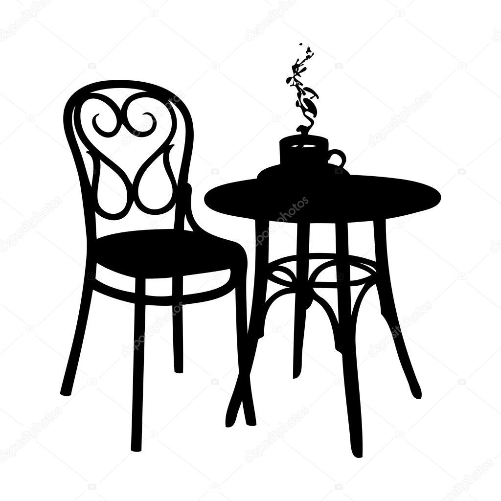Image Result For Cafe Table And Chairs Silhouette