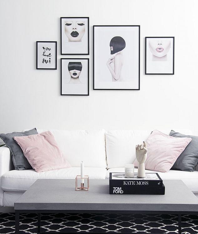Wandfarbe Schlafzimmer Weisse Möbel: Schwarz-weiße Fotokunst...